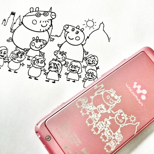 peppa pig laser engraved walkman