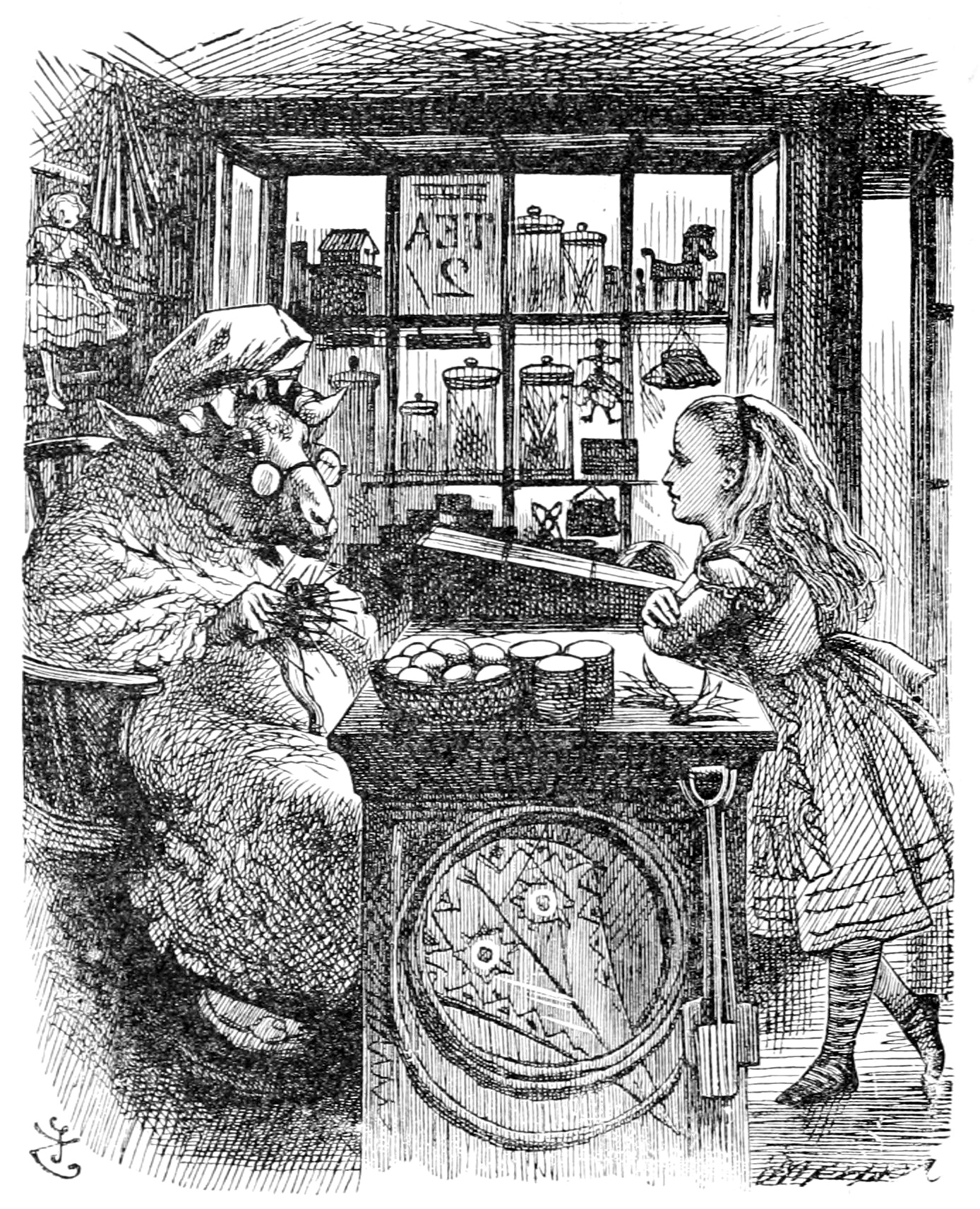 John_Tenniel_Alice_and_the_Knitting_Sheep
