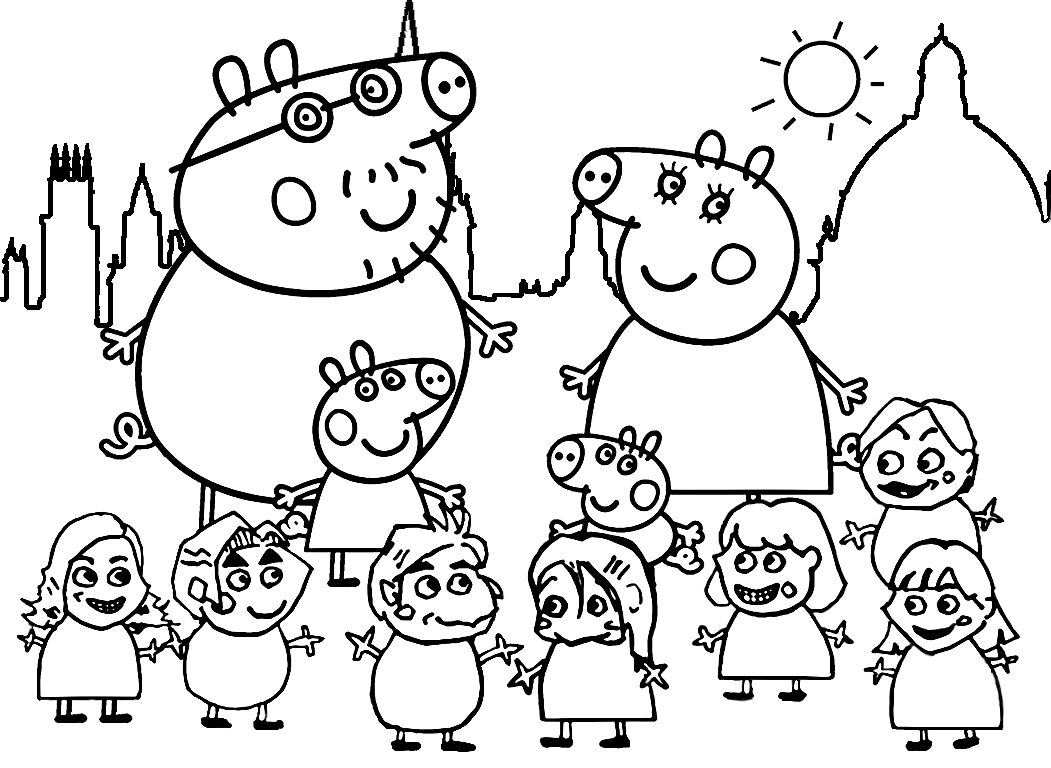 peppa pig like caricature