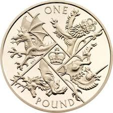 UK 1 pound coin 2015